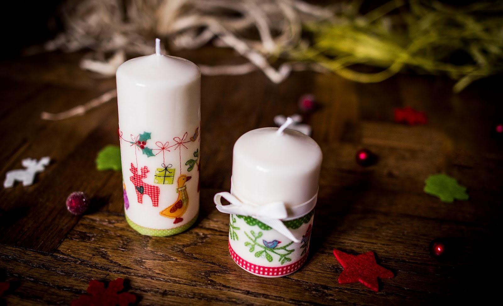Декупаж свечей: техника и материалы - калейдоскоп декора