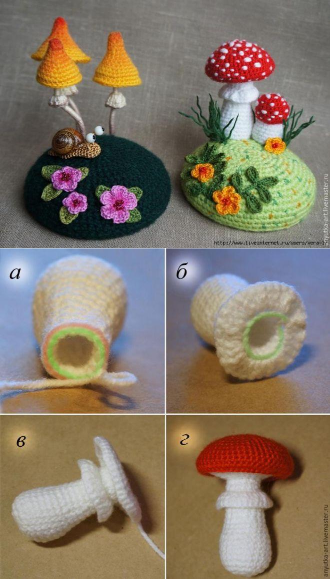 Мастер-класс поделка изделие шитьё игольница-грибок с тайничком +мк нитки ткань