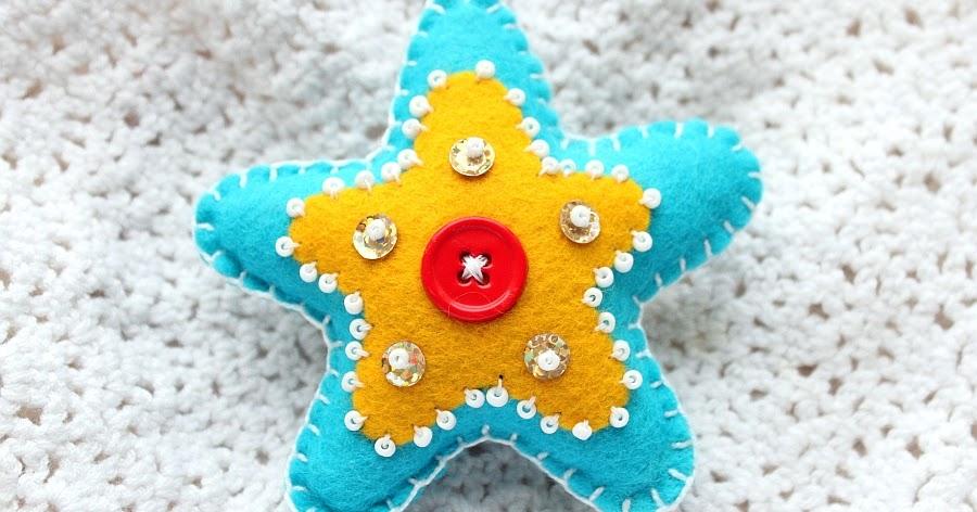 Рождественская звездочка из фетра