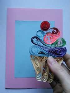 Открытка день рождения квиллинг открытки-квиллинг бумага гофрированная бумажные полосы клей