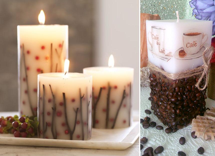 Декор свечей своими руками: 75 интересных идей с видео