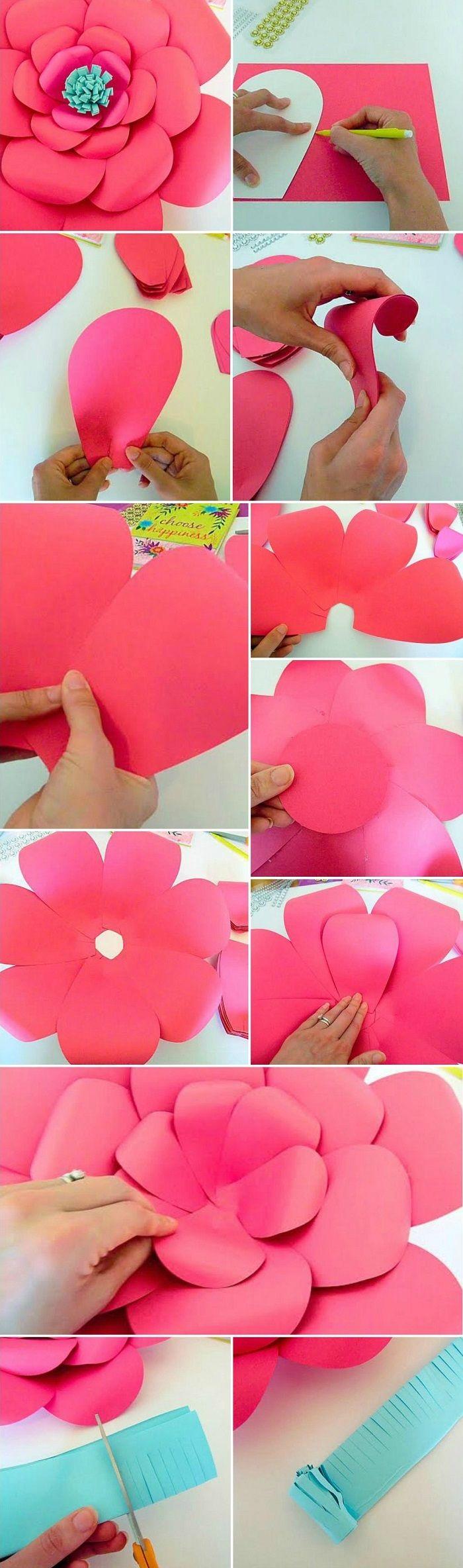 Объёмные цветы из бумаги своими руками на стену: популярные схемы и шаблоны