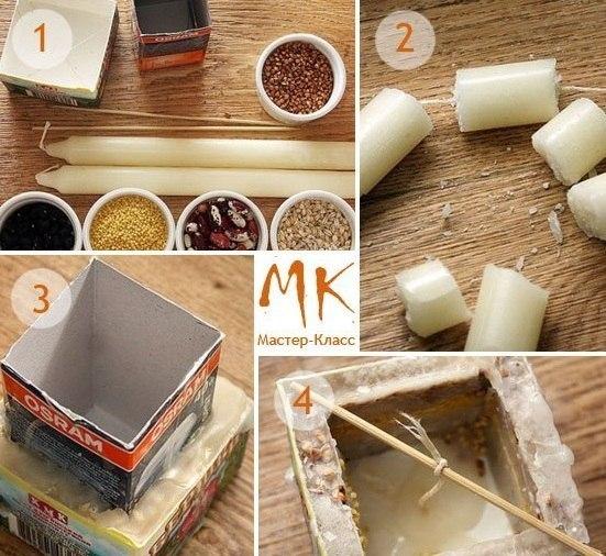 Как сделать свечку в домашних условиях к 14 февраля: простые рецепты и пошаговые мастер-классы