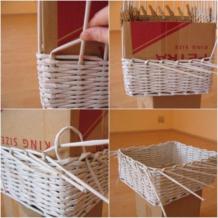 Плетение корзин из газетных трубочек: 90+ (фото) разных способов