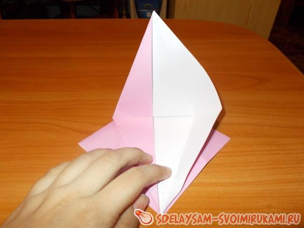 Забавная оригами-улитка
