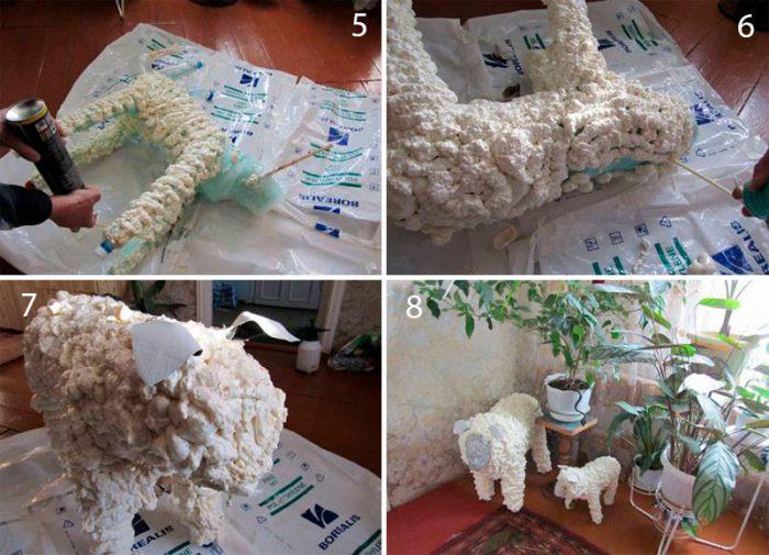 Магнит овечка из кофейных зерен своими руками. мастер-класс с пошаговыми фото. овечка из ткани. мастер-класс с фото. новогодняя овечка. нетрадиционное