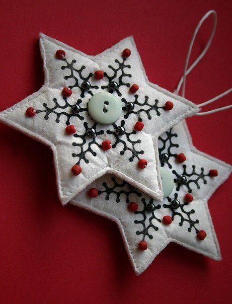 Мастер-класс игрушки из фетра «рождественская звезда»