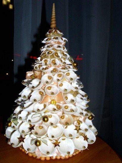 Мастер-класс «новогоднее превращение»: изготовление новогодней ёлочки из ракушек. воспитателям детских садов, школьным учителям и педагогам