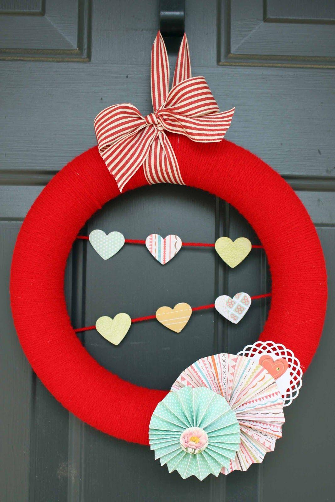 Валентинки своими руками объемное сердце. валентинка своими руками отзывы. венок из сердечек