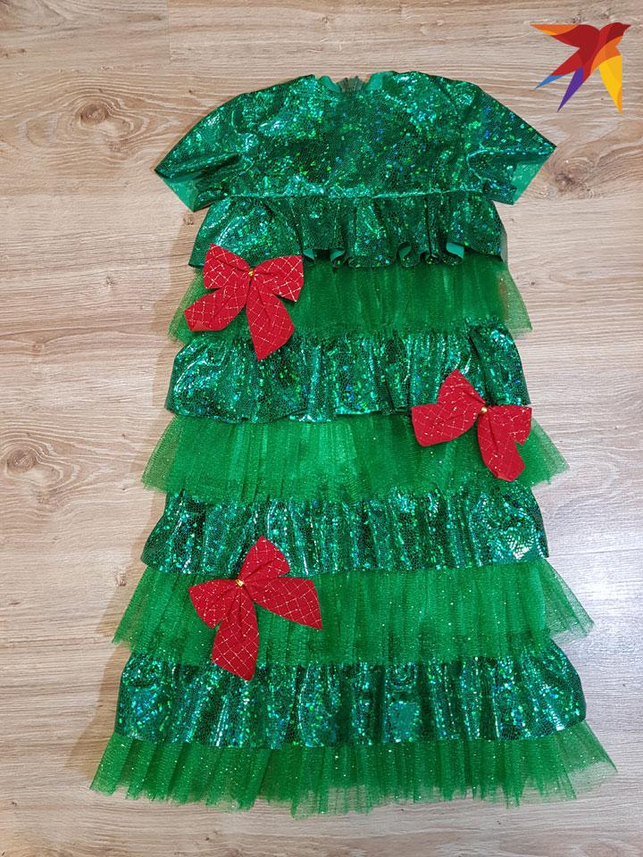Как сшить костюм ёлочки для девочки на новый год своими руками