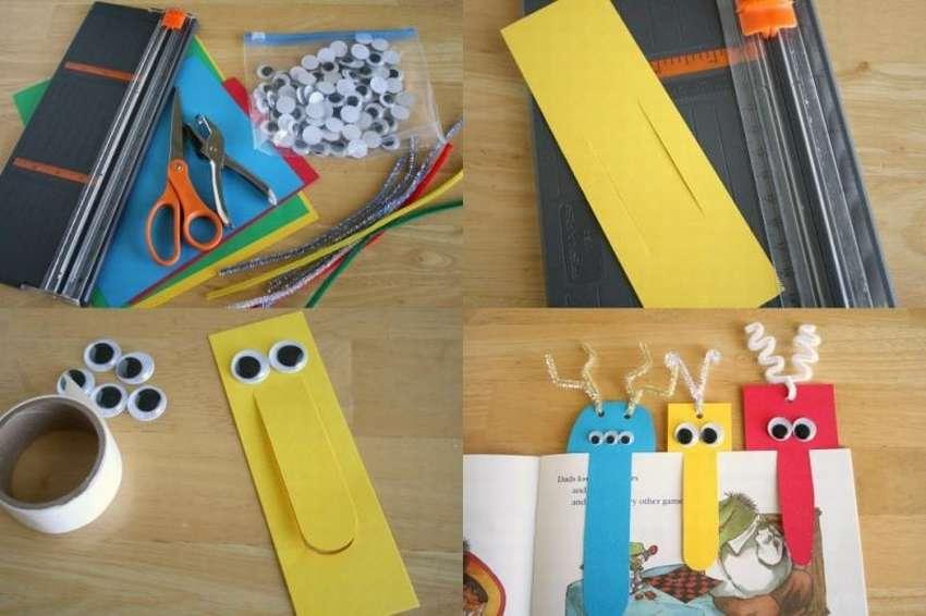 Легкие закладки для книг и учебников: 10 идей - сделай сам