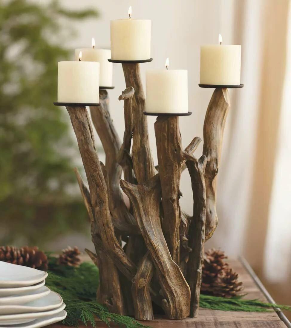 Декор из дерева, креативные изделия  - 21 фото