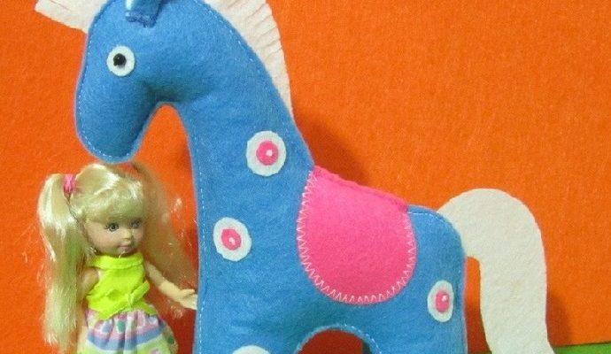 Мастер-класс игрушки из фетра «лошадка» - клуб рукоделия три иголки