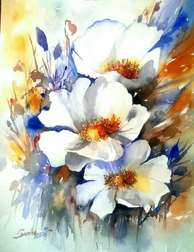 Акварельная живопись flower drawing art, акварельные цветы, розовый цветок с лепестками png | hotpng