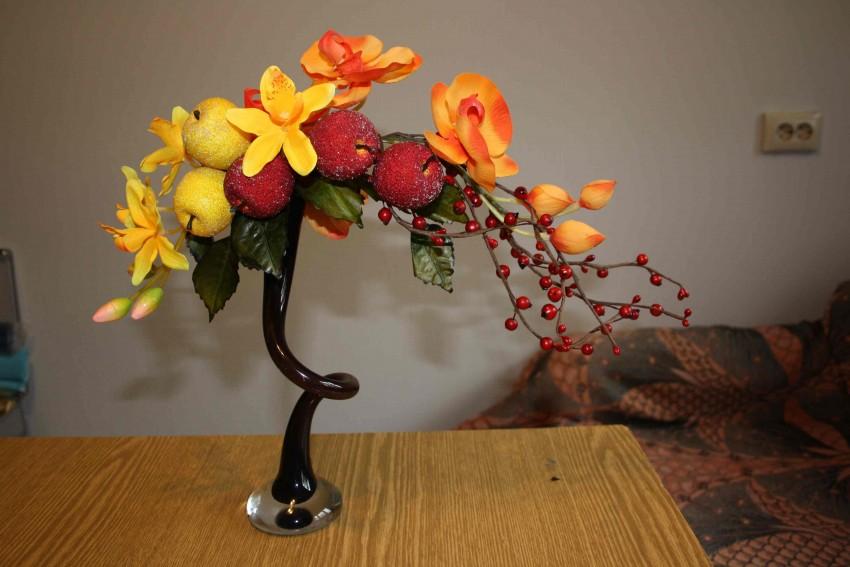 Элегантные топиарии из искусственных цветов: стильный декор своими руками. композиция из цветной соли и искусственных цветов поделки из искусственных цветов название