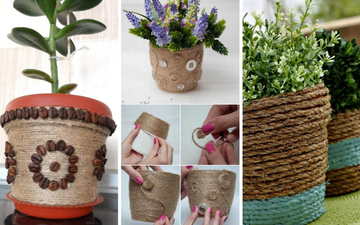 Декорирование цветочных горшков своими руками: лучшие мастер-классы