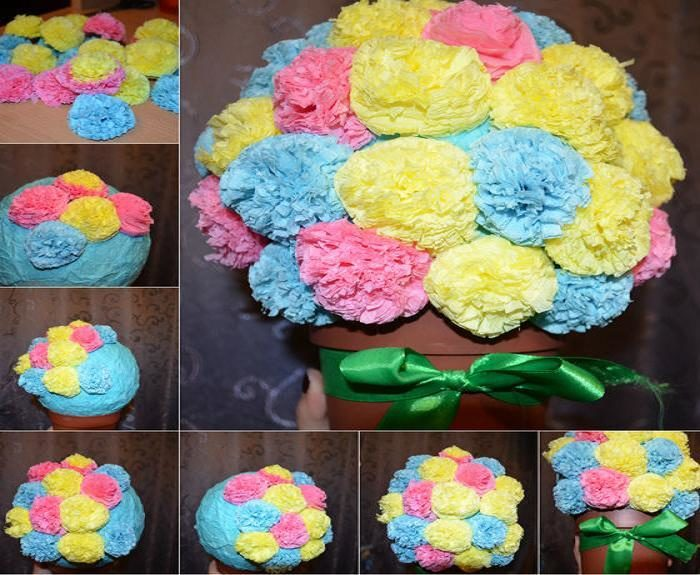 Конспект занятия «декоративные цветы из салфеток»