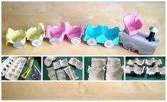 Декоративная подвеска домик-мухомор из яичных лотков | страна мастеров
