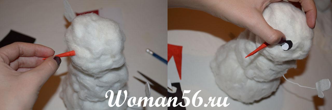 Поделка снеговик своими руками: 10 мастер-классов с фото и видео