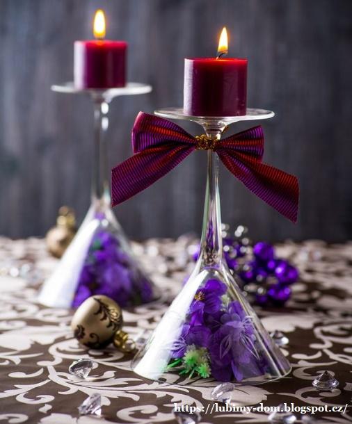 Как сделать из фужера подсвечник новогодний. мастер-класс: делаем подсвечники своими руками из бокалов, дерева, банок, гипса и пластиковых бутылок. чудеса под стеклянным куполом