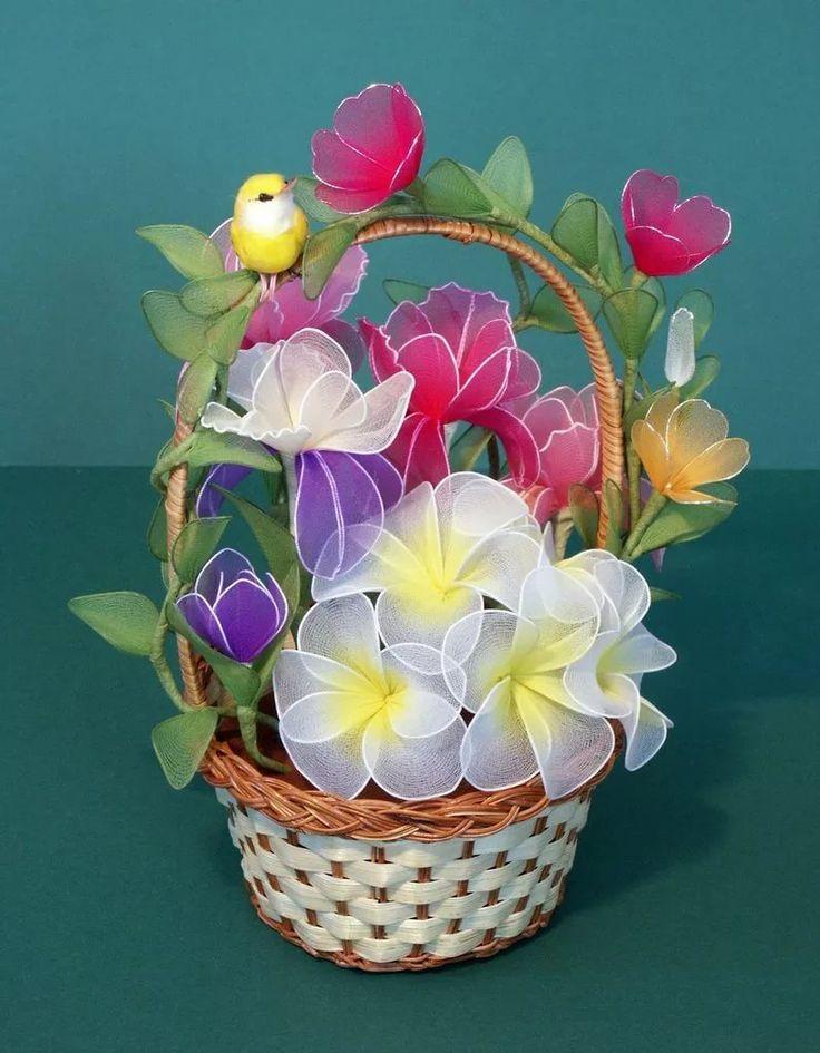 Флористика искусственная моделирование конструирование цветы из капрона капрон
