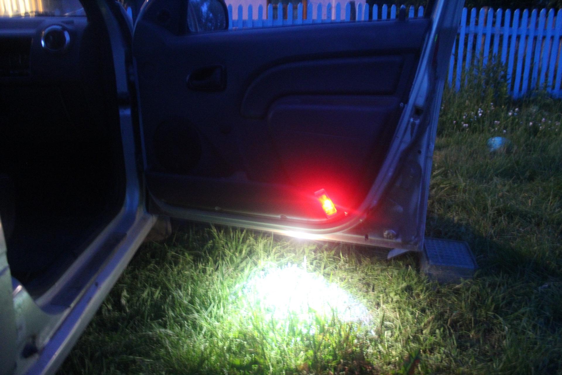 Диодная подсветка дверей автомобиля своими руками
