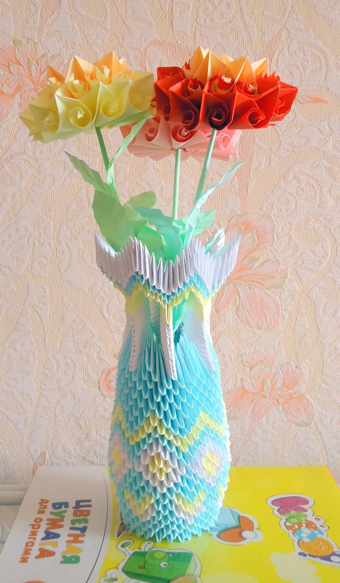 Оригами ваза: пошаговые инструкции по сборке и схема создания вазы