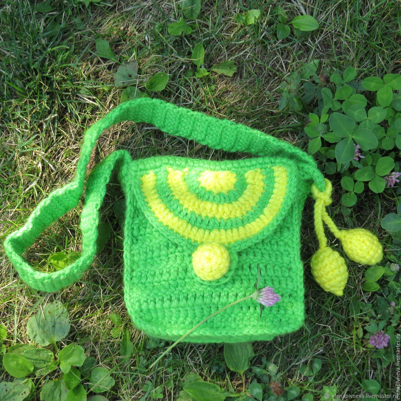 Вяжем детскую сумочку крючком. мастер-класс для начинающих