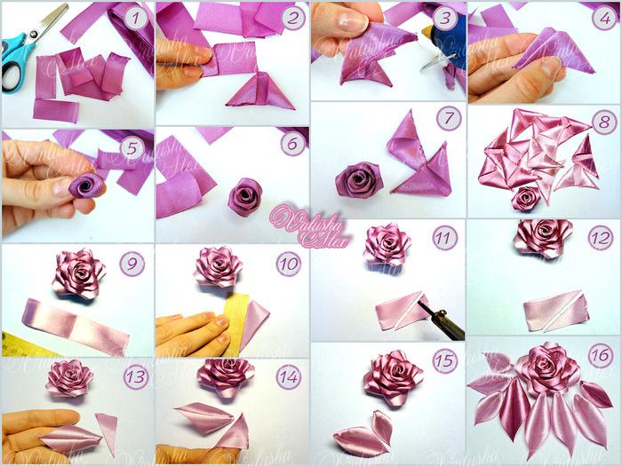Розы из ткани своими руками: мастер-класс