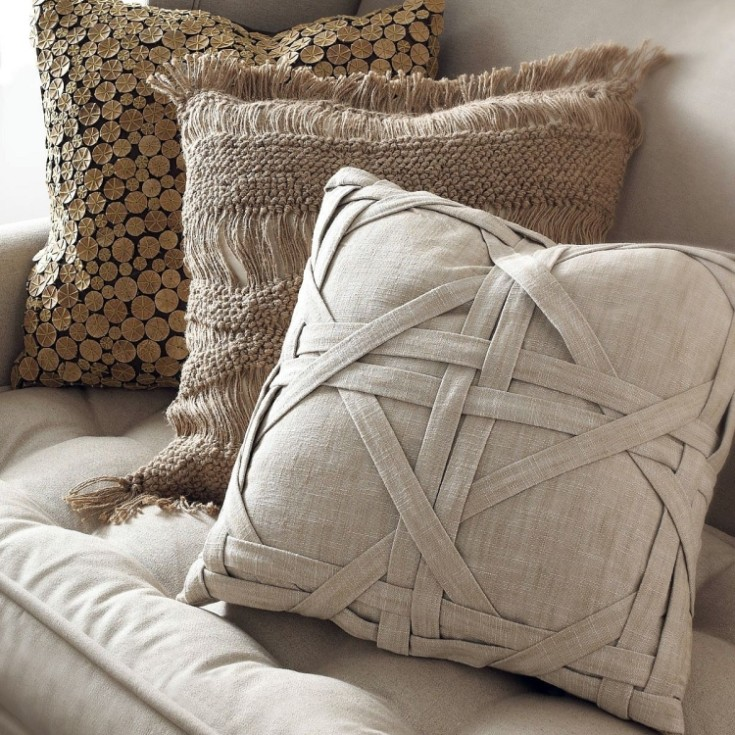Делаем оригинальные декоративные подушки своими руками