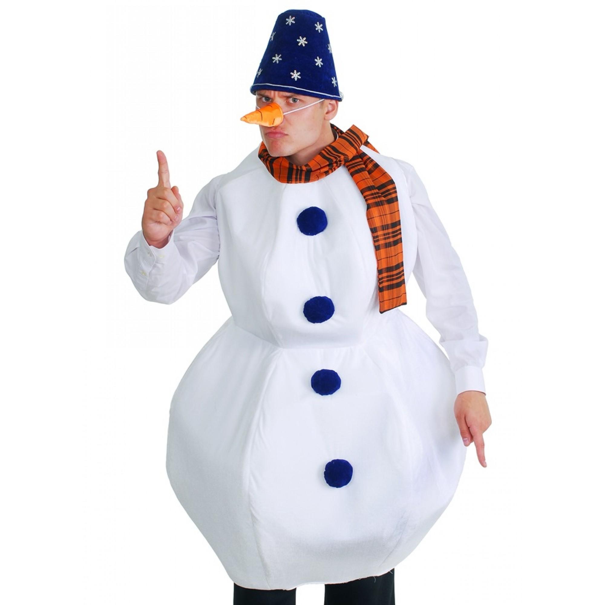 Как сшить костюм снеговика для мальчика своими руками