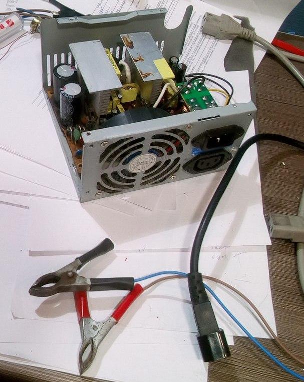 Самодельное зарядное устройство для автомобильного аккумулятора из бп атх, схемы