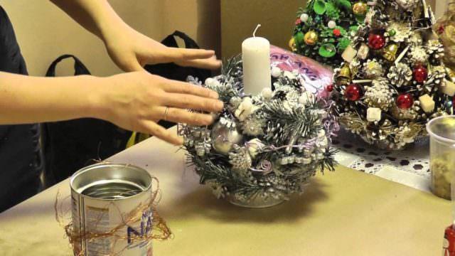 Как сделать новогодний подсвечник своими руками