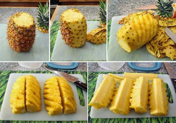 Как почистить ананас в домашних условиях ножом: быстро и красиво!