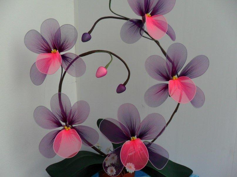 Поделка изделие моделирование конструирование цветы из капрона много фото капрон проволока