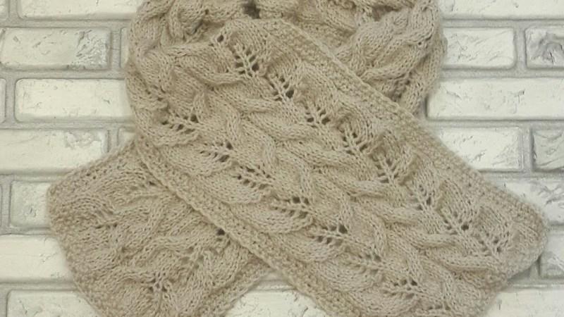 Узоры для шарфа спицами - вязаные шарфы со схемами