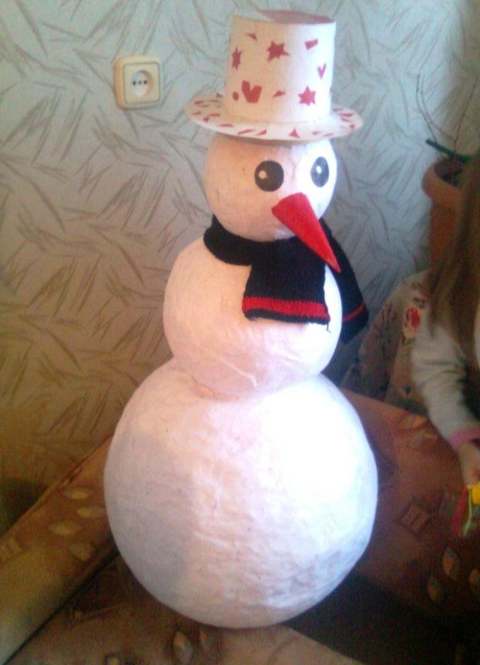 Снеговик своими руками из подручных материалов: новогодние мастер-классы с фото и видео