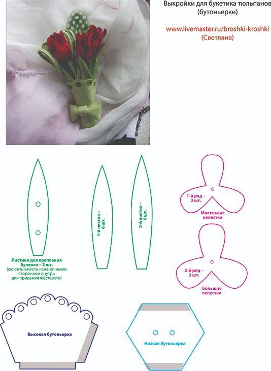 Тюльпаны своими руками: 110 фото и видео мастер-класс создания красивых тюльпанов