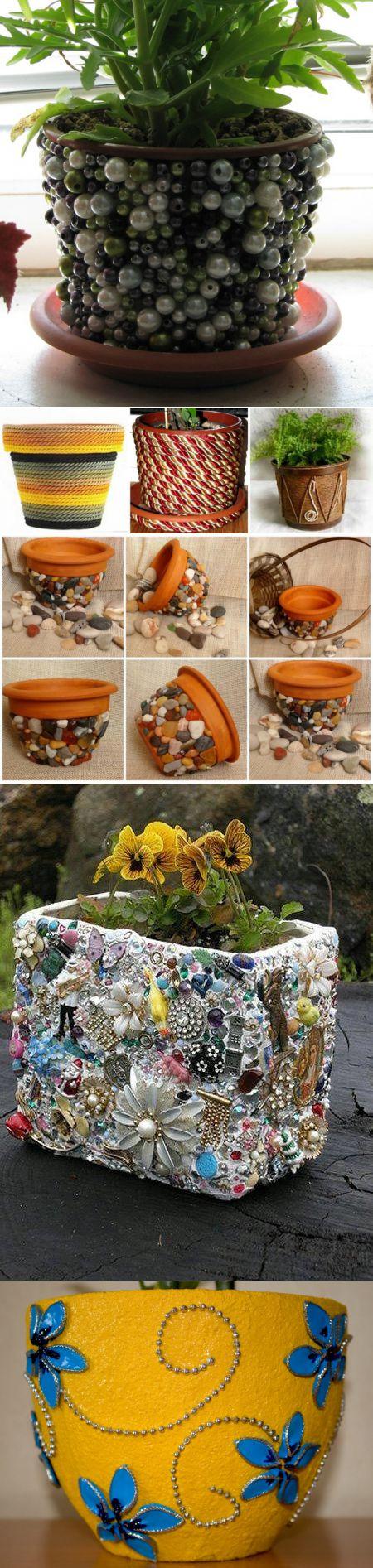 Как украсить цветочный горшок? декорирование кашпо своими руками