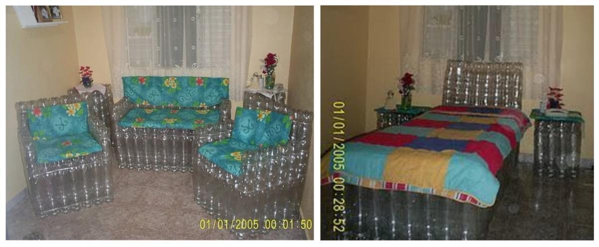 Мебель из пластиковых бутылок: кресло и диван своими руками, с подробным описанием и фото