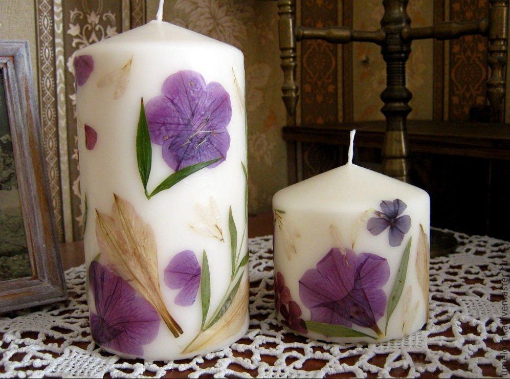 Декоративные свечи своими руками (95 фото)