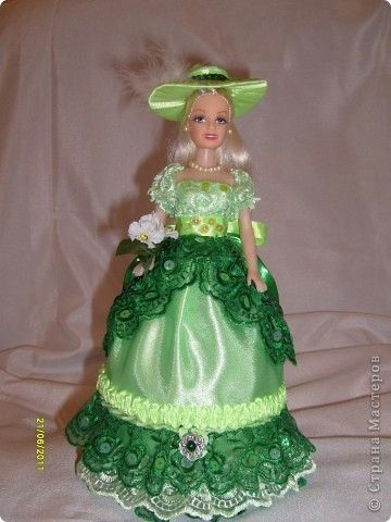 Кукла шкатулка из атласных лент мастер класс