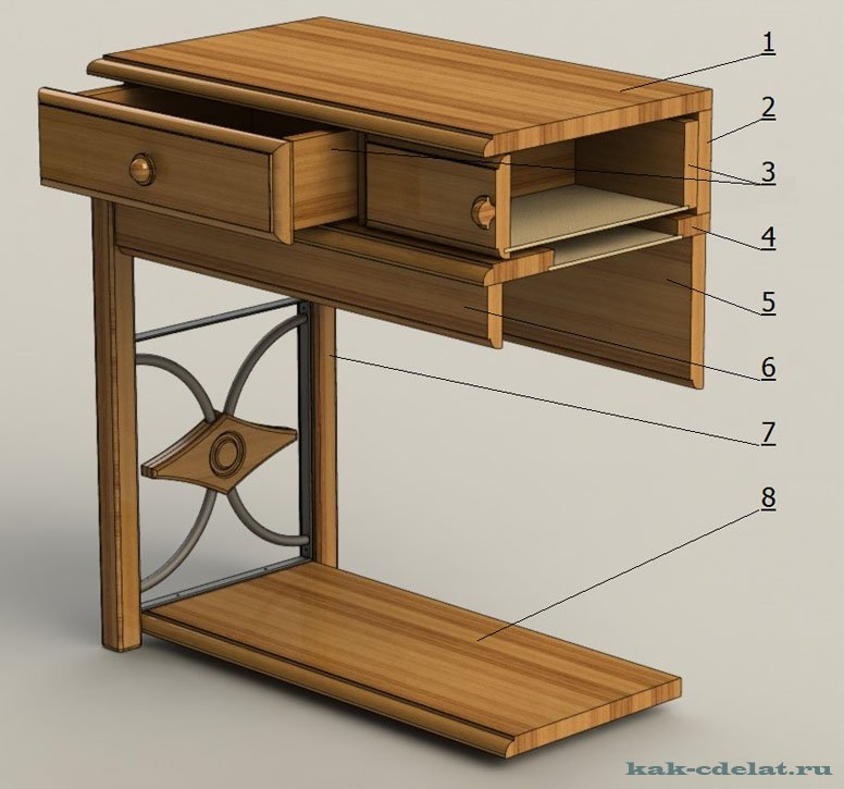 Как сделать прикроватный столик своими руками