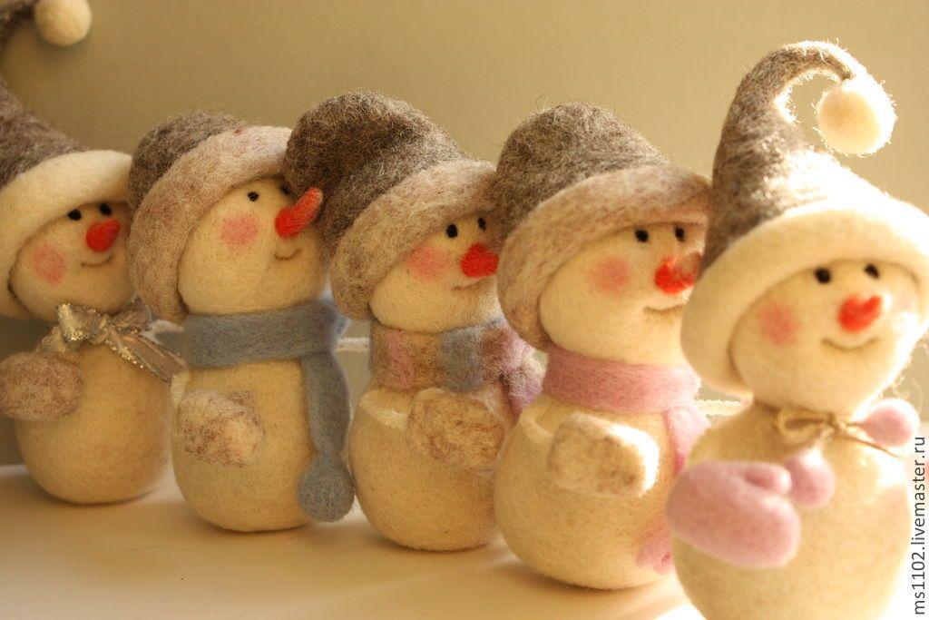 У нас прошел мастер-класс по валянию снеговика. - страна мам