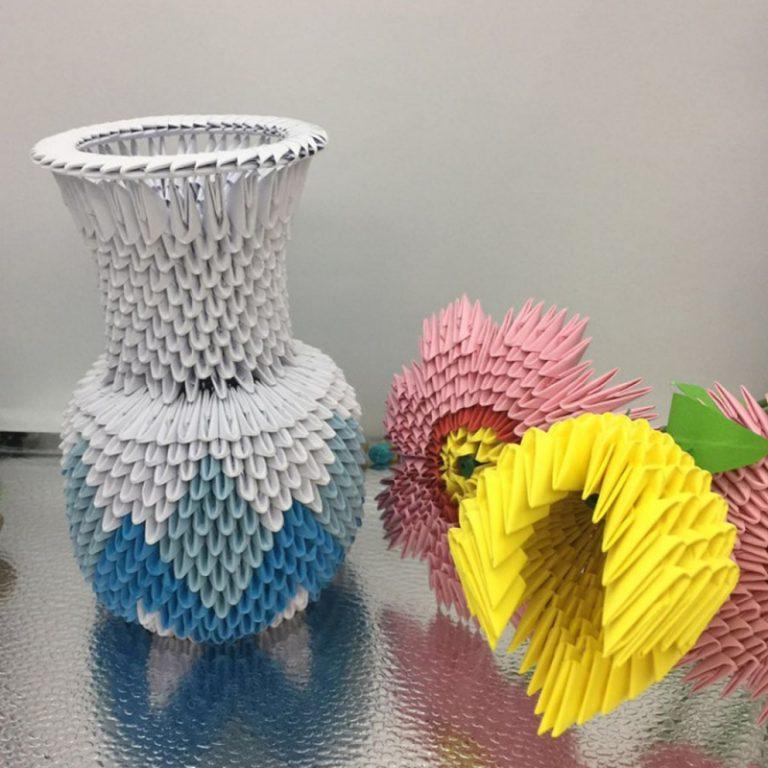 Ваза в технике модульного оригами | dodim