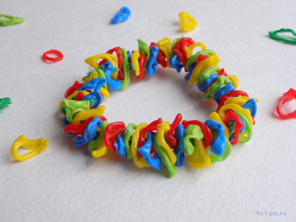 Плетение из трубочек, браслеты