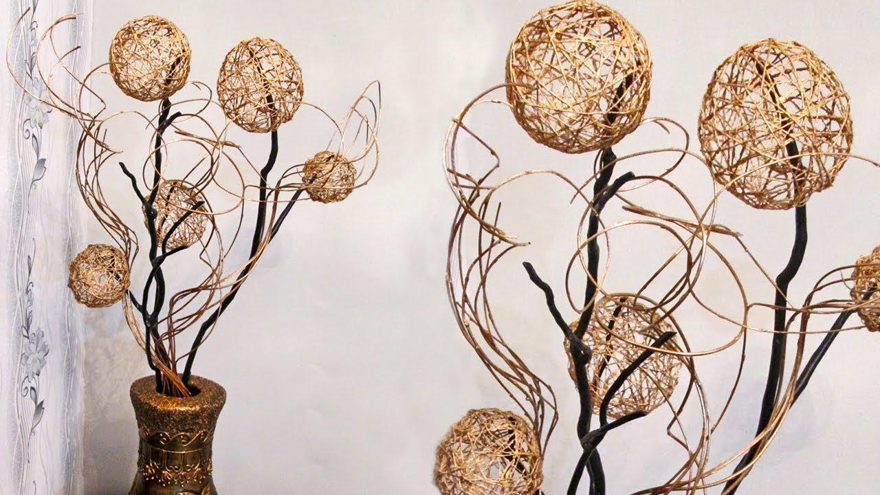 Арт-объект из веток и текстиля - своими руками