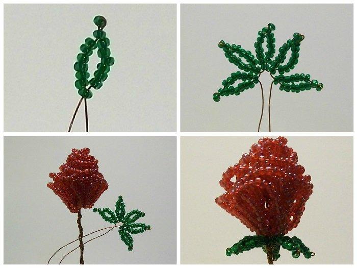 Роза из бисера: пошаговое описание как сплести по схеме красивый цветок (85 фото)