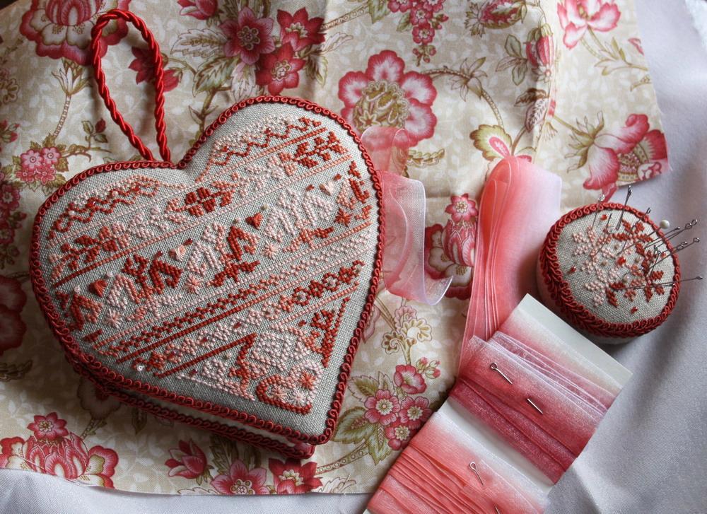 Вышитое сердце – страстное доказательство вашей любви! — своими руками