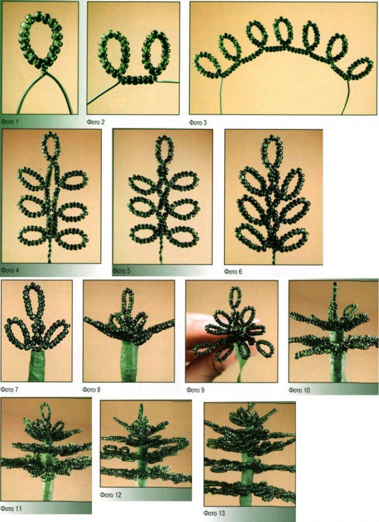 Елочка из бисера - варианты плетения и советы по выбору оптимальных размеров (видео + 75 фото)